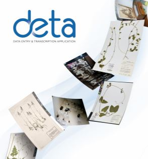 DETA transcription application Herbaria and data entry