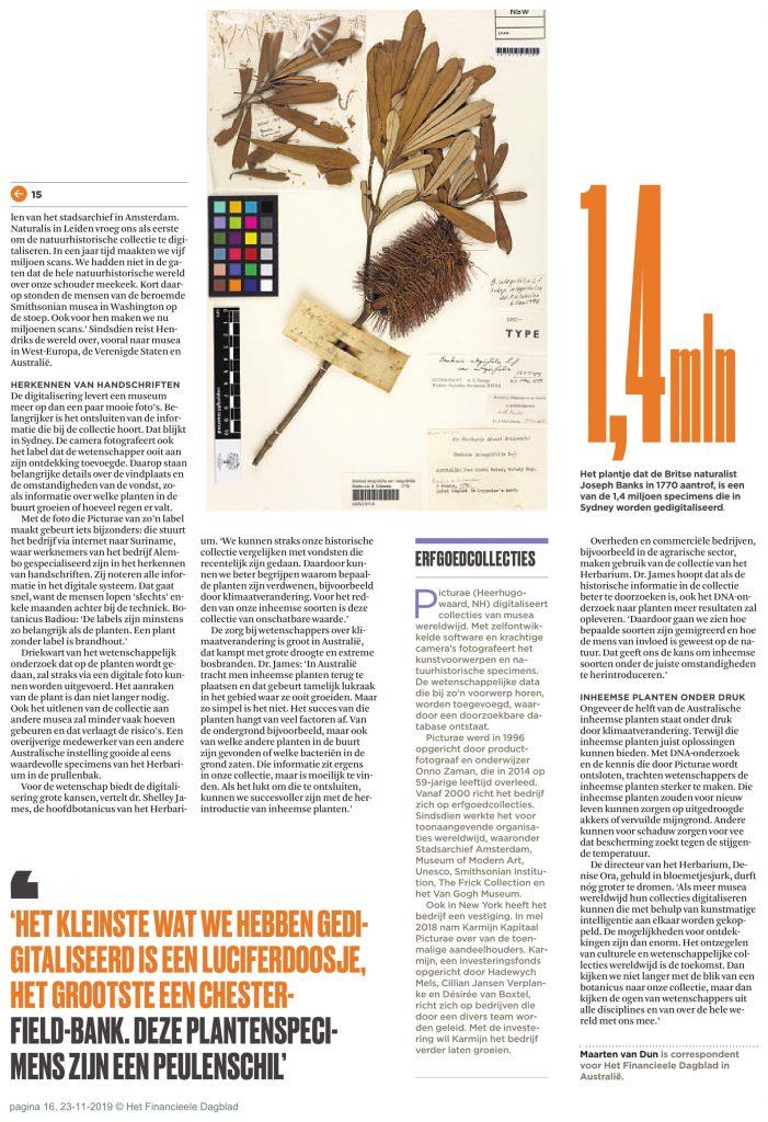 Financieel Dagblad Herbaria 2