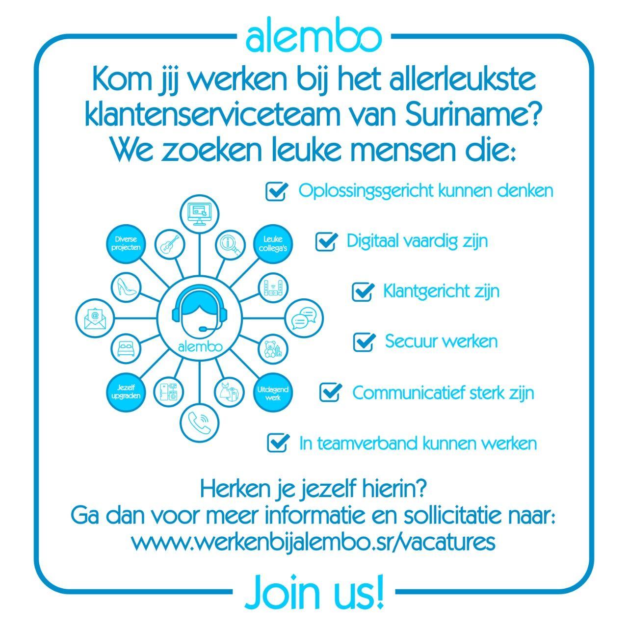Alembo's klantenservice vacatures
