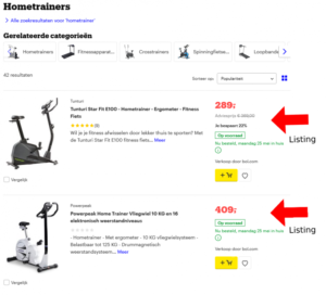 Wat is een product listing?
